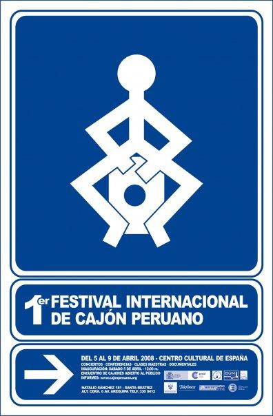 Afiche - I edicion Festival internacional de cajon peruano