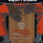 Afiche - II edicion Festival internacional de cajon peruano