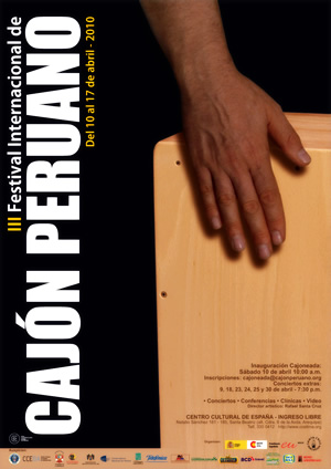Afiche - III edicion Festival internacional de cajon peruano