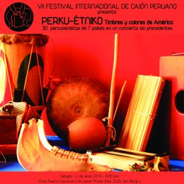 """Entradas a la venta para """"PERKU-ETNIKO. Timbres y Colores de América"""""""
